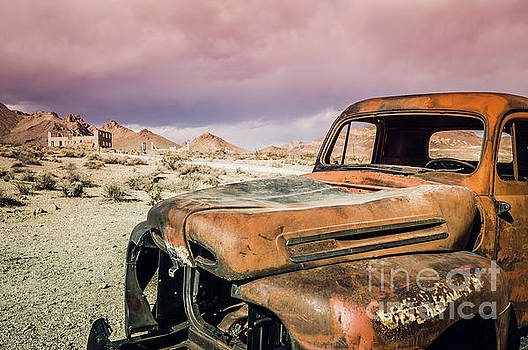 Old Truck Rhyolite Ghost Town Outside of Death Valley by Blake Webster