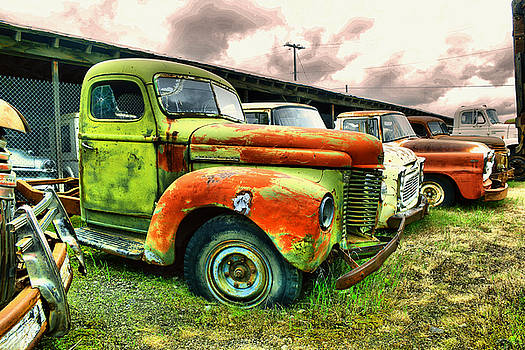 Old trucks in a row by Jeff Swan