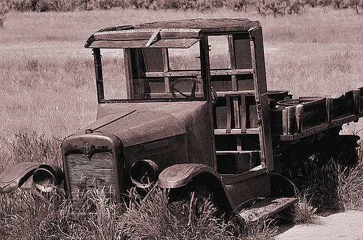 Old Truck in Sepia by Kae Cheatham