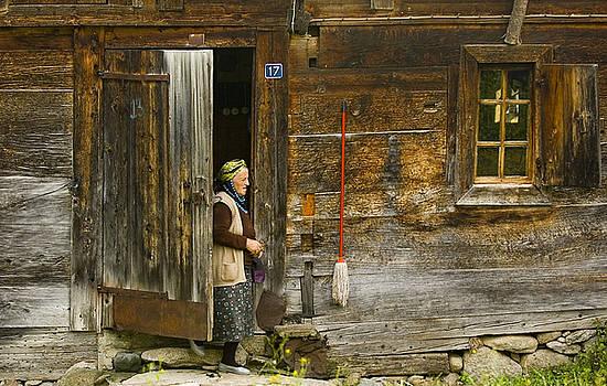 Old turkish woman by Kobby Dagan