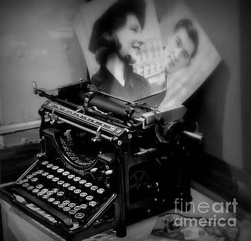 Old Typewriter Black and White by Tanya Searcy
