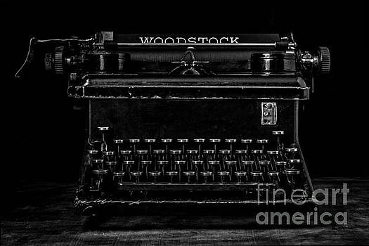 Old Typewriter Black and White Low Key Fine Art Photography by Edward Fielding