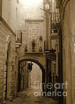 Old village street by Frank Stallone