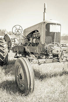Old Vintage Farm Tractor Durham New Hampshire by Edward Fielding