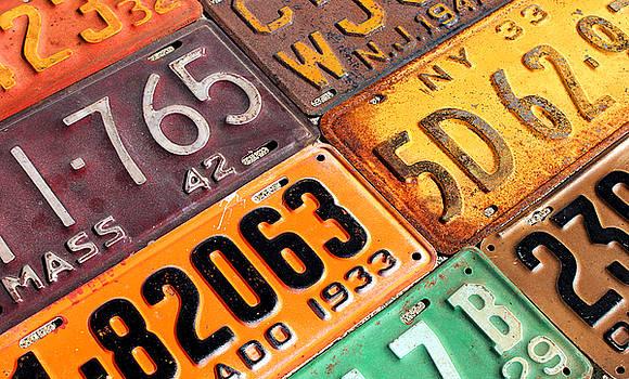 Old Vintage License Plates Number 2 by Design Turnpike