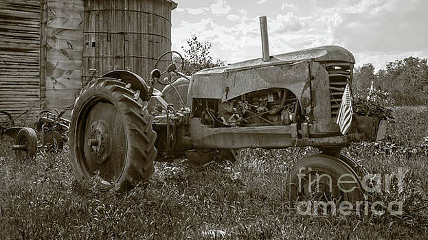 Old Vintage Tractor Hopkinton New Hampshire by Edward Fielding
