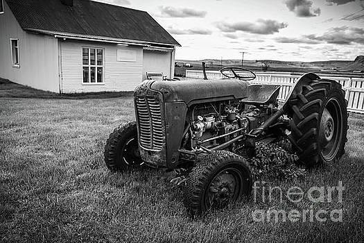 Old Vintage Tractor Iceland by Edward Fielding