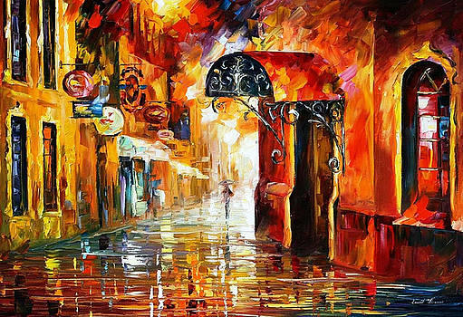 Old Vitebsk 2 - PALETTE KNIFE Oil Painting On Canvas By Leonid Afremov by Leonid Afremov
