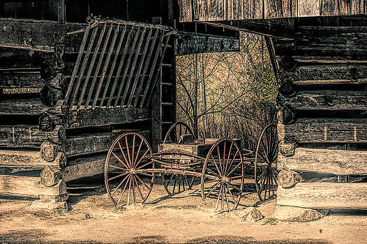 Old Wagon - Digital Art by Charlie Choc