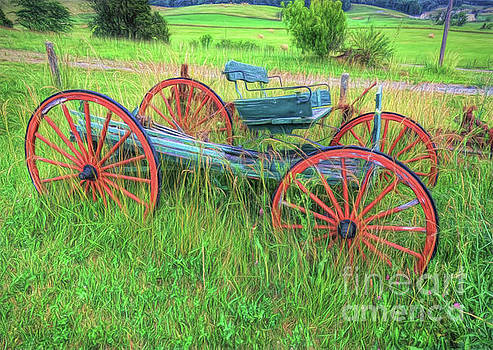 Old Wagon by Marion Johnson