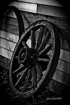 Old Wagon Wheel by Joann Copeland-Paul