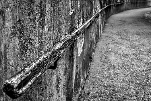 Old Wall and Handrail by Stuart Litoff