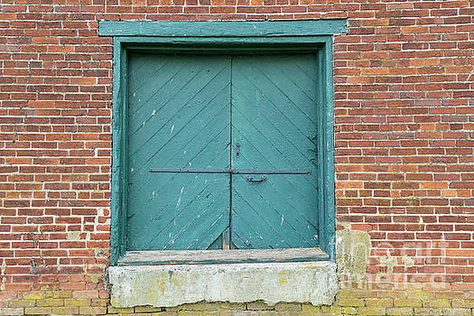 Old Warehouse Loading Door and Brick Wall by George Sheldon