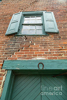 Old Warehouse Window and Lucky Door by George Sheldon