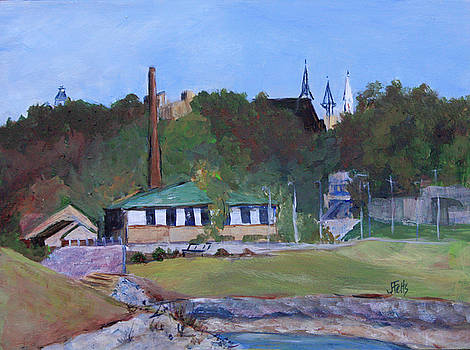 Old Waterworks Building by Janet Felts