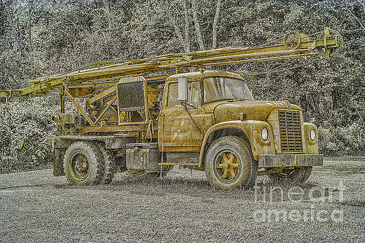 Randy Steele - Old Well Drilling Truck Sepia