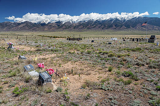 Old West Rocky Mountain Cemetery View by James BO Insogna