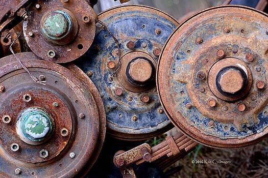Old Wheels, Circles and Bolts by Kae Cheatham