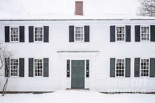 Old White Colonial House Muster Field Farm  by Edward Fielding