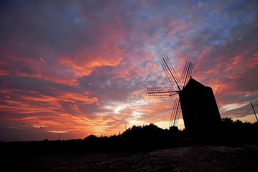 Old Windmill in Formentera by Nano Calvo