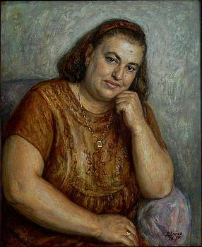 Old woman smiling by Dionisii Donchev
