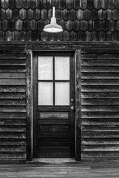 Terry DeLuco - Old Wood Door and Light Black and White
