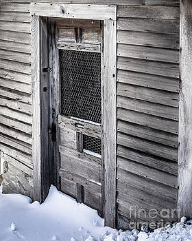 Old wooden chicken coop on a farm by Edward Fielding