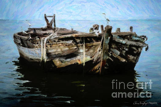 Old Wooden Fishing Boat by Chris Armytage
