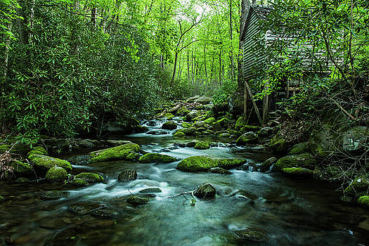 Old Wooden Mill Smoky Mountains Tennessee by Carol Mellema