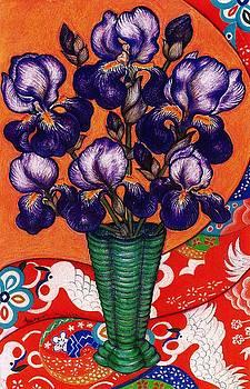 Richard Lee - Purple Beards with Red Kimono