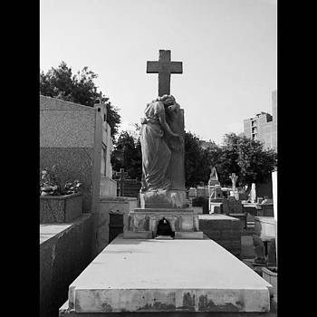 #oldcairo #grave #dead #angel #cross by Eman Allam