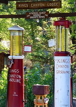 Oldest Dbl. Gravity Gas Pumps 1928 by Amelia Racca