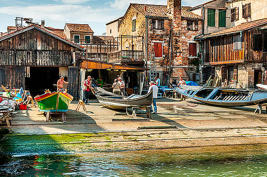 Oldest Gondola Shop In Venice by Xavier Cardell