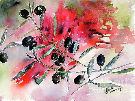 Ginette Callaway - Olive Branch Watercolor