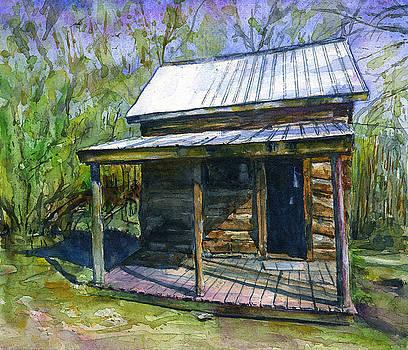 Olive Green Cabin by John D Benson