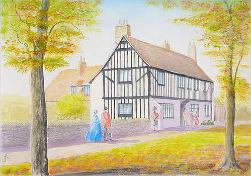Oliver Cromwell's House c1640 by David Godbolt