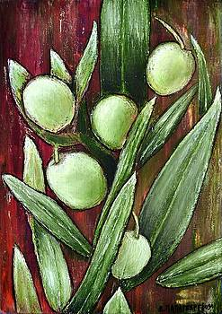 Olives And Leaves by Dimitra Papageorgiou