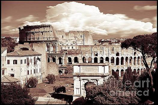 Colosseum from Roman Forums  by Stefano Senise