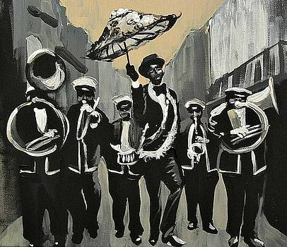 Olympia Brass Band Serious by Kerin Beard