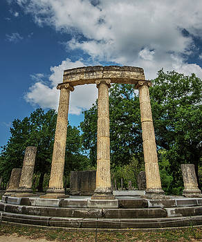 Olympia Greece Ruins by Alida Thorpe