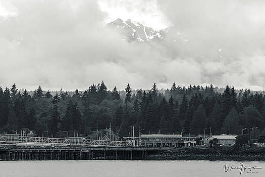 Olympic Mountains From Kingston, WA - 1498,SW by Wally Hampton