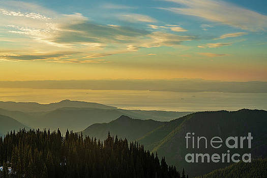 Olympic Peninsula Sunset Layers by Mike Reid