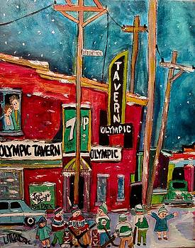 Olympic Tavern and Hockey by Michael Litvack