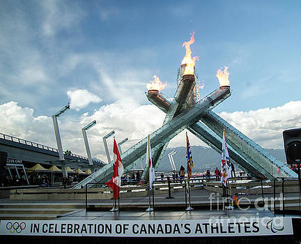 Olympic Torch in Vancouver by Natural Focal Point Photography