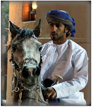 Omani Man and his Horse by Debi Demetrion