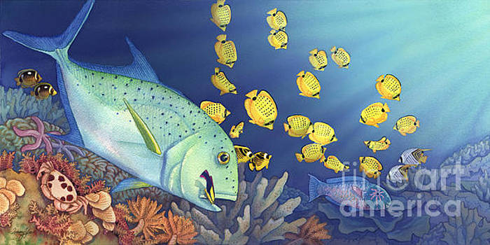 Omilu Bluefin Trevally by Tammy Yee