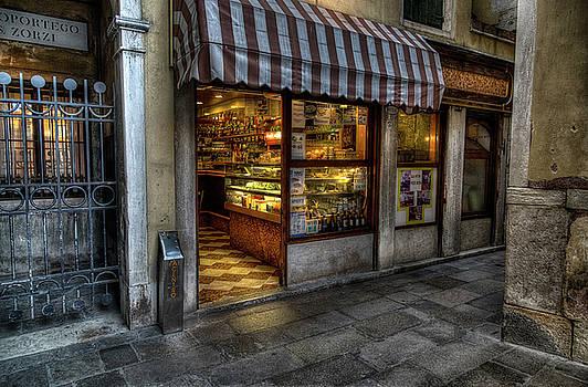 On a street corner in Venice by John Hoey