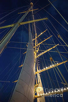 On a Tall Ship at Night by Beth Riser