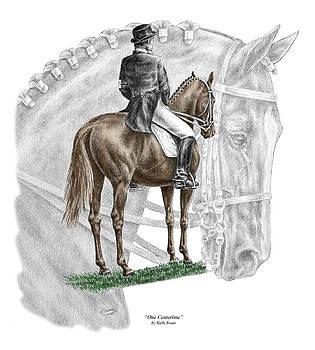 Kelli Swan - On Centerline - Dressage Horse Print color tinted