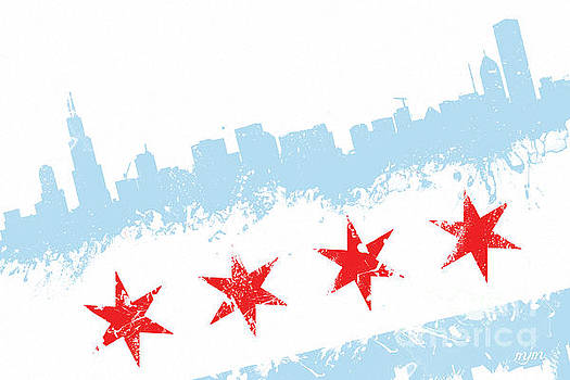 Chicago Flag Lean by Mike Maher